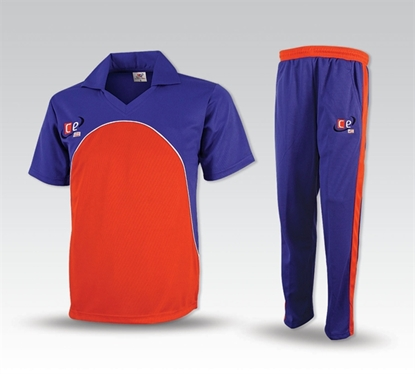 Picture of Colored Cricket Kit England Colors - Pants and Shirt  by Cricket Equipment USA
