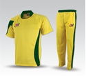 Picture of Colored Cricket Kit Australian Colors - Pants and Shirt  by Cricket Equipment USA