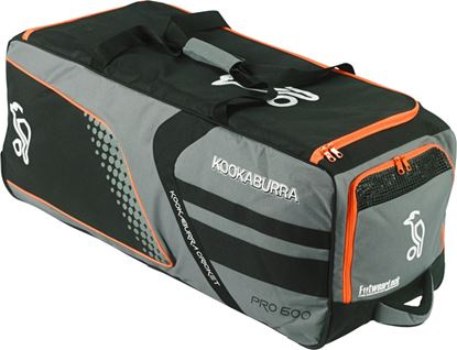 Picture of Pro 600 Cricket Wheelie Bag Slate & Black By Kookaburra 2016