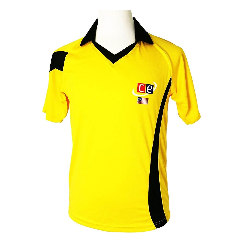 Colored Cricket Kit Shirts Australian Colors Gold & Dark Green
