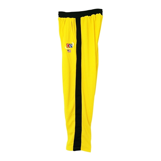 Picture of Colored Cricket Pants Australian Colors Gold & Dark Green