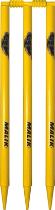 Yellow Stumps With Bails Cricket Wickets