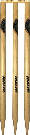 Traditional Wooden Cricket Stumps with bails