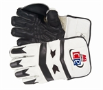 Picture of Revolution Wicket Keeping Gloves White Black by Cricket Equipment USA