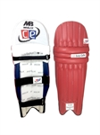 Picture of T20 Daisy Cutter Maroon Leg Guards by Cricket Equipment USA