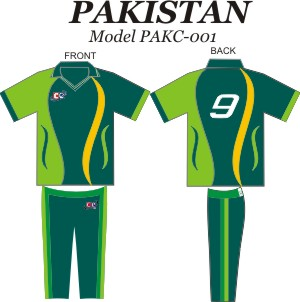 Design Pattern for Pakistan Cricket Jersey & Pants