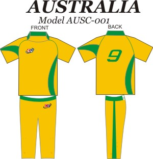 Design Pattern for Australian Cricket Jersey & Pants