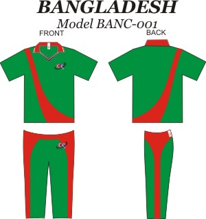 Design Pattern for Banladesh Cricket Jersey & Pants