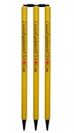 Picture of Colored Yellow Set of 6 Stumps with Bails by Cricket Equipment USA