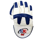 Picture of Revolution Wicket Keeping Gloves Blue White by Cricket Equipment USA