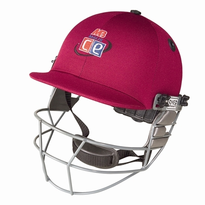 Picture of Maroon Revolution Cricket Helmet by Cricket Equipment USA