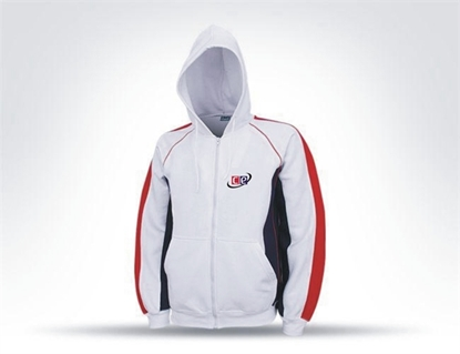 Picture of Hoodie Sweat Shirt Blue, White and Red Model T-PF300T By Cricket Equipment USA