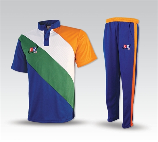 Picture of Colored Cricket Kit Indian Colors - Pants and Shirt  by Cricket Equipment USA