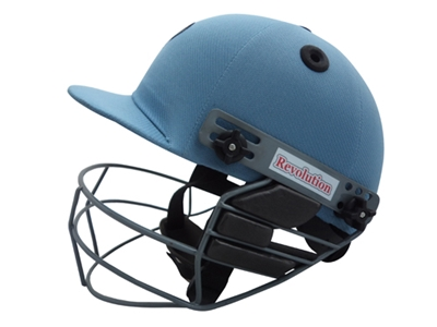 Picture of Sky Blue Revolution Cricket Helmet by Cricket Equipment USA