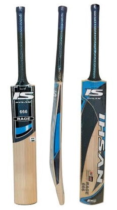 Picture of Cricket Bat  English Willow RAGE 666 by Ihsan