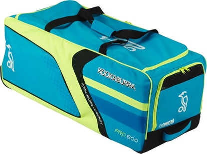 Picture of Cricket Wheelie Bag Pro 400 Blue/Yellow By Kookaburra
