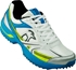 Picture of Cricket Shoe Pro 760 Rubber Sole Color Blue Lime White By Kookaburra