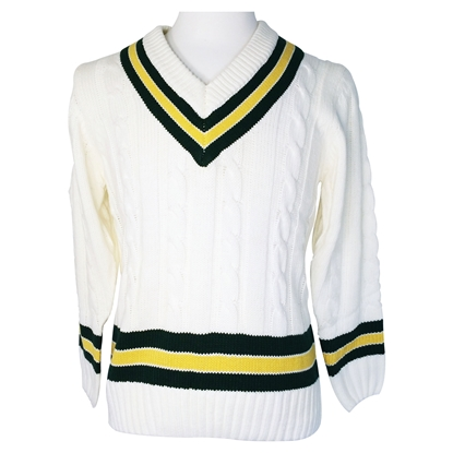 Picture of Sweater White/Yellow/Green by Gunn & Moore