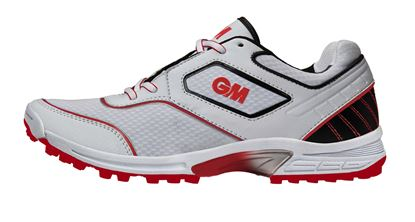Picture of Cricket Shoes Phase All Rounder Rubber TPR Sole Color Red Grey White By Gunn & Moore