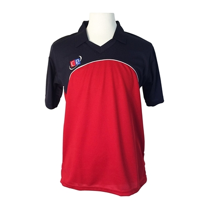 Picture of Colored Cricket Kit Shirts - England Colors Navy & Red - Half Sleeves