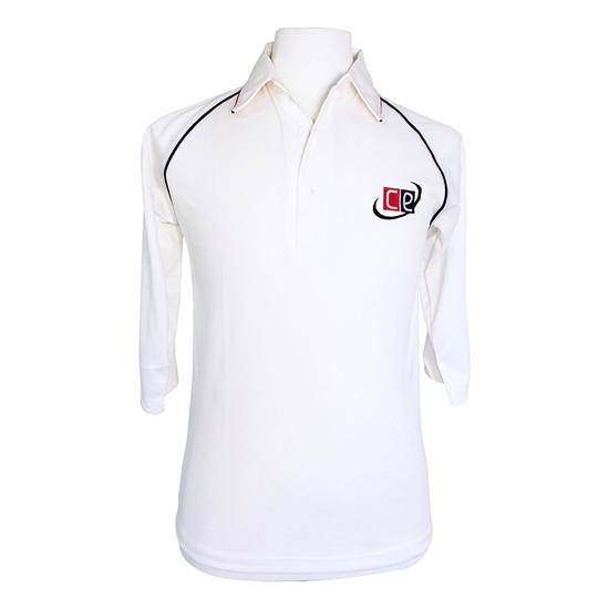 Picture of Cricket White Shirt 3/4 Long Sleeves Jersey