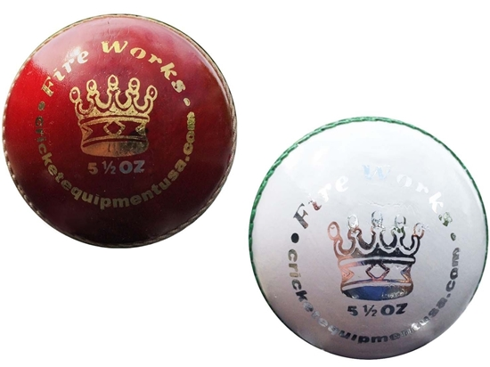 Picture of Cricket Balls Fireworks Red White Two Balls by Cricket Equipment USA