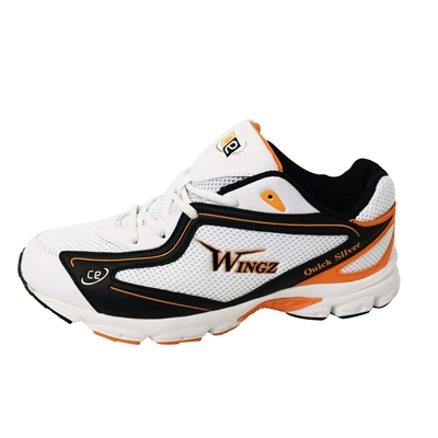 Picture of Wingz Quick Silver Rubber Sole Cricket Sports Shoes Orange Black White By Cricket Equipment USA