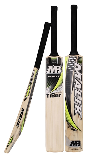 Picture of Junior Cricket Bat English Willow Malik Tiger - Kids Children Bats For Promising Youngsters
