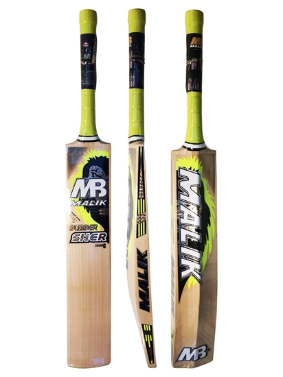 0e3561e632e Cricket Bat English Willow Bubber Sher Yellow By Malik