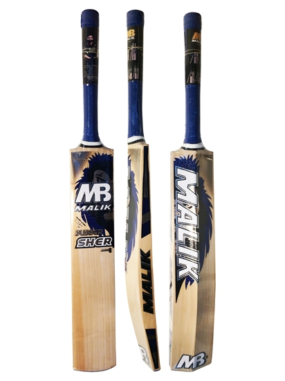 5f3ea04d5a3 Cricket Bat English Willow Bubber Sher Blue By Malik