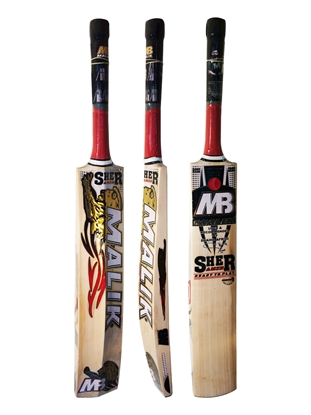 Sher Red Cricket Bat By Malik