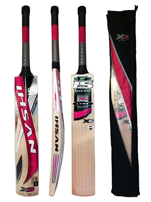 Picture of Cricket Bat English Willow Lynx X6 by Ihsan