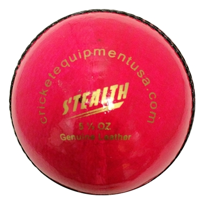 Picture of Cricket Ball Stealth Pink Leather by Cricket Equipment USA
