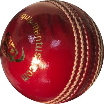 Turf Red Leather Cricket Ball