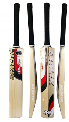 Picture of Cricket Bat Blaze Made from Poplar Wood Tennis Ball Bat Red Short Handle Full Size Adult Bat