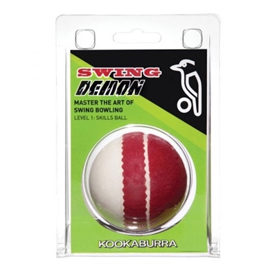 Picture of Cricket Training Ball Swing Demon Red White By Kookaburra
