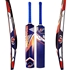 Picture of Cricket Bat Tape Tennis Ball BLUE Painted Wood Light Weight White Curved Wooden Bat Size Short Handle