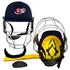 Picture of Cricket Helmet Revolution Color Navy Blue For Head & Face Protection by Cricket Equipment USA