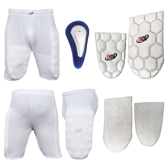 Picture of Cricket Batting Thigh Guards Protective Shorts with Groin Cup