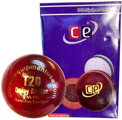 Picture of Cricket Ball T20 Daisy Cutter Red Leather for T20 Cricket Matches, Tournaments and Practice  Six Pack