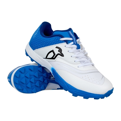 Picture of Cricket Shoes KC 2.0 Rubber Sole Colour Blue White by Kookaburra