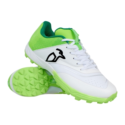Picture of Cricket Shoes KC 2.0 Rubber Sole Colour Lime White by Kookaburra