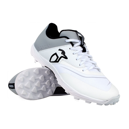 Picture of Cricket Shoes KC 3.0 Rubber Sole Colour Grey White by Kookaburra