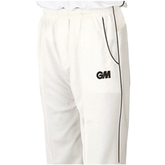 Picture of Cricket Trouser - Teknik Club Cream/Navy Piping by Gunn & Moore