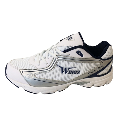 Picture of Wingz Quick Silver Rubber Sole Cricket Sports Shoes Royal Blue Silver White By Cricket Equipment USA