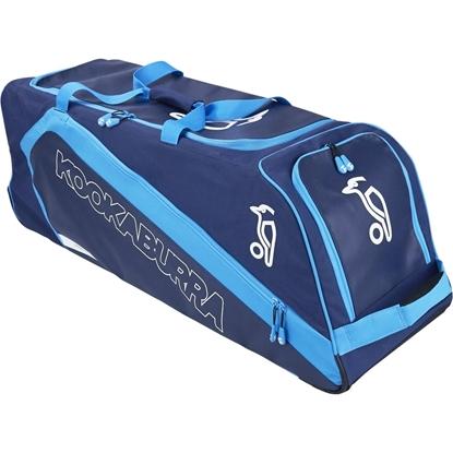 Picture of Cricket Kit Bag Wheelie Pro 2000 Colors Navy/Cyan by Kookaburra