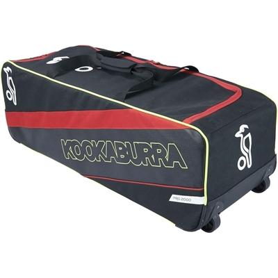 Picture of Cricket Kit Bag Wheelie Pro 2000 Colors Black/Red by Kookaburra