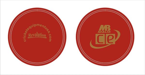 Design of Revolution Leather Cricket Ball