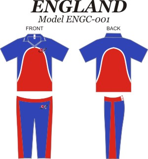 Design Pattern for England Cricket Jersey & Pants