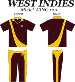 Design Pattern for West Indies Cricket Jersey & Pants